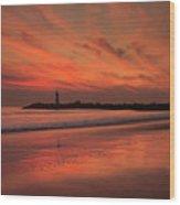 Twin Lakes Sundown Wood Print