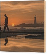 Twin Lakes Sunset Reflected Wood Print
