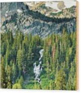 Twin Lakes Waterfall Wood Print