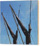 Twin Mast Wood Print