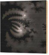 Twin Moons Wood Print