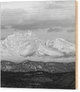 Twin Peaks Black And White Panorama Wood Print