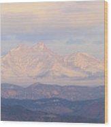 Twin Peaks Meeker And Longs Peak Panorama Color Image Wood Print by James BO  Insogna