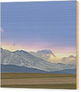 Twin Peaks Panorama View From The Agriculture Plains Wood Print