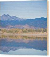 Twin Peaks Reflection Wood Print