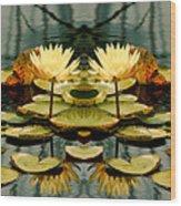 Twin Pond Lillies Wood Print