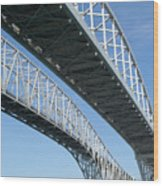 Twin Spans Wood Print