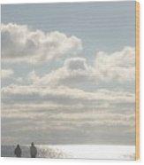Twinkling Sunlight On The Beach Wood Print