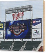 Twins Home Opener 2010 Wood Print by Ron Read