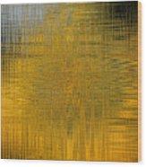 Twirl Art Yellow  Wood Print