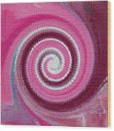 Twirl Pink  Wood Print