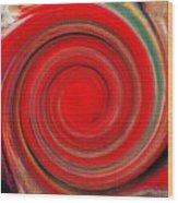 Twirl Red-0951 Wood Print
