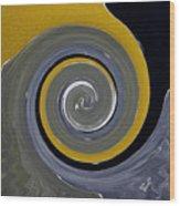 Twirl Yellow  Wood Print
