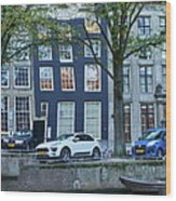 Twisted Panorama. Amsterdam Wood Print