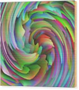 Twisted Rainbow 2 Wood Print