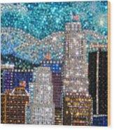 Los Angeles. Rhinestone Mosaic Beadwork Mix Wood Print