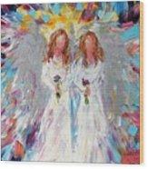 Two Angels Wood Print
