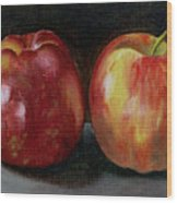 Two Apples Wood Print