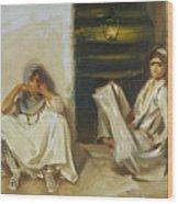 Two Arab Women Wood Print