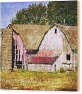 Two Barns And A Silo Wood Print