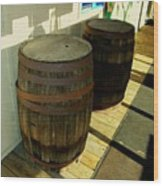 Two Barrels Wood Print
