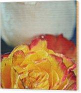 Two Beautiful Roses Wood Print