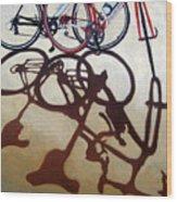 Two Bicycles Wood Print by Linda Apple
