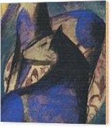 Two Blue Horses 1913 Wood Print
