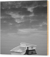 Two Boats And Clouds Wood Print by Dave Gordon