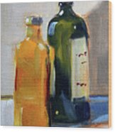 Two Bottles Wood Print