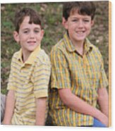 Two Boys Wood Print