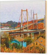 Two Bridges In The Backyard Wood Print