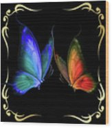 Two Butterflys -4 Wood Print