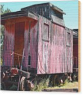 Two Caboose Wood Print