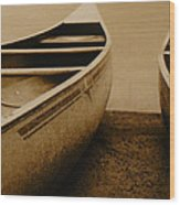 Two Canoes Wood Print