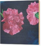 Two Carnations Wood Print