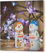 Two Chocolate Snowmen 2 Wood Print