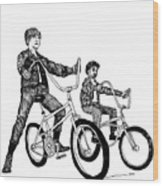 Two Cool Riders Wood Print by Karl Addison