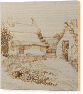 Two Cottages At Saintes Maries De La Mer Wood Print
