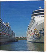 Two Cruise Ships Wood Print