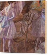 Two Dancers In Their Dressing Room Wood Print