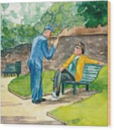 Two Englishmen In Conversation  Wood Print