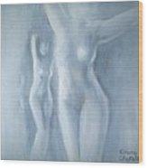 Two Female Nudes Wood Print