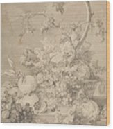 Two Floral Still Lifes Wood Print