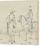 Two French Cavalrymen On Horseback Wood Print