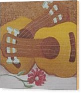 Two Guitars Wood Print
