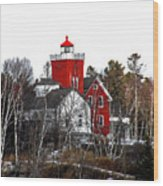 Two Harbors Lighthouse Close-up Wood Print