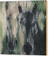 Two Horses In Greens Wood Print