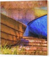 Two Idle Boats Wood Print
