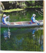 Two In A Canoe Wood Print